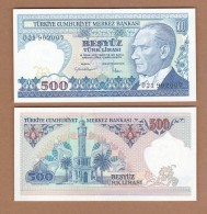 AC - TURKEY - 7th EMISSION 500 TL D 21 902 007 UNCIRCULATED - Turquie