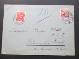 Schweiz 1942 Beleg Mit Nachporto / Poertomarke Nr. 57 Chaux De Fonds Depot Lettr. - Briefe U. Dokumente