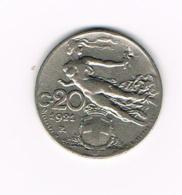 °°°  ITALIE  20 CENTESIMI   1921 R - 1861-1946 : Royaume