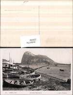 229599,Gibraltar The Rock From Beach Strand Ruderboote - Gibraltar