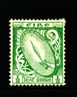 IRELAND/EIRE - 1923  1/2 D. SWORD  SE WMK MINT  SG 71 - 1922-37 Stato Libero D'Irlanda