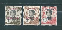 Colonie   Timbre De Yunnanfou  De 1908  N°33/34 Et 37  Neufs * - Nuovi