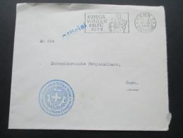Bern 1942 Officiel Kriegs Winter Hilfe. Departement Politique Federal. Division Des Affaires Etrangeres. - Briefe U. Dokumente