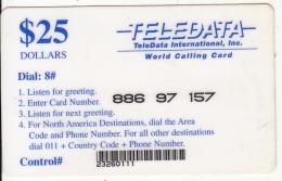 BOSNIA - Teledata International Remote Memory Card $25(used By U.N. Personnei In Angola), Used - Angola