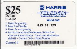 ANGOLA - Harris/Teledata International Remote Memory Card $25(used By U.N. Personnei In Angola), Used