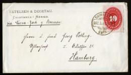 A4066) Mexico Cover From Chihuahua 12/30/1888 To Hamburg / Germany - Mexiko