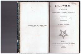 KENILWORTH A Romance    Vol  II     1821 - Livres Anciens
