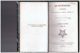 KENILWORTH A Romance    Vol  II     1821 - Alte Bücher