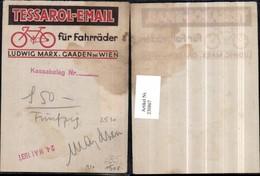 230867,Reklame Werbung Tessarol-Email Fahrrad Ludwig Marx Gaaden B. Wien - Pubblicitari