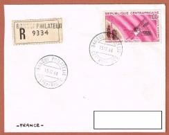 R.Bangui Philatélie 15.12.1966 Centrafrique   Satellite D1 P.A. - Telecom