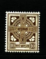 IRELAND/EIRE - 1923  10d.  CROSS  SE WMK  MINT NH SG 81 - 1922-37 Stato Libero D'Irlanda