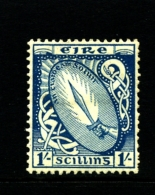IRELAND/EIRE - 1923  1s.  SWORD  SE WMK  MINT SG 82 - 1922-37 Stato Libero D'Irlanda