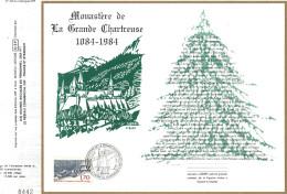 Sur Feuillet CEF , FDC 1984 Saint Pierre De Chartreuse . 1084 - 1984 Monastère De La Grande Chartreuse . - Klöster