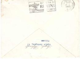 ANNULLO TARGHETTA RIVIERA DI RIMINI MAGGIO SETTEMBRE - 1946-60: Marcophilie