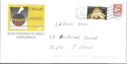 PAP REPIQUE - ECOLE DU CIRQUE à CHATELLERAULT  VIENNE - Postal Stamped Stationery