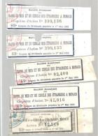 MONACO --- MONTE CARLO --- S.A. BAINS De MER Et Du CERCLE Des ETRANGERS à MONACO --- 5 Coupons N° 69 1er Mai 1932 - Casino