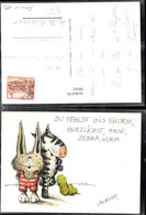 99185,Comic Künstler Ak Vincenth Hase Zebra Wurm Spruch - Comicfiguren