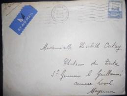 Palestine, Letre De Jerusalem 1939 Pour Laval - Palestine