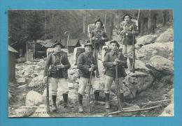 CPA Militaire Militaria  Troupe De Chasseurs Alpins Dans Les Alpes 05 - Frankrijk