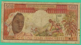 500 Francs - Gabon -  N°. M1 - 22326 - TB - - Gabon