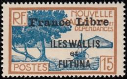 WALLIS & FUTUNA ISLANDS - Scott #100 Bay Of Palétuviers 'Overprinted' / Mint LH Stamp - Wallis-Et-Futuna