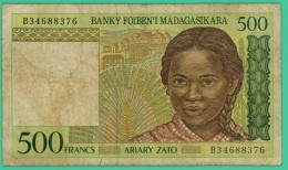 500 Ariary  - Madagascar - N°. B34688376 - TB  - - Madagascar