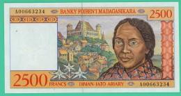 2500 Francs -  Ariary  - Madagascar - N°.A00663234 - Sup - 1993 - - Madagascar