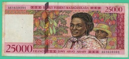25000 Francs -  Ariary  - Madagascar - N°.A00663234 - Ttb+ - 1993 - - Madagascar