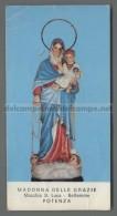 EM2008 MADONNA DELLE GRAZIE MACCHIA S. LUCA BETLEMME POTENZA FORELLINI Santino Holy Card - Religione & Esoterismo