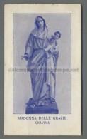 EM2017 MADONNA DELLE GRAZIE GRAVINA PIEGHE Santino Holy Card - Religione & Esoterismo