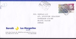Spain BARCELÓ LAS MARGARITA Registered Certificado Label AEROPUERTO LAS PALMAS Gran Canaria 1996 Cover Letra ATM / Frama - Poststempel - Freistempel