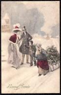 CPA EXCELSIOR Nr 116 -  ROMANTIC WINTER SCENE - SCENE D´HIVER ROMANTIQUE 1902 - Illustrateurs & Photographes