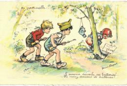 Thème - Illustration  - Germaine Bouret - En Patrouille - Bouret, Germaine