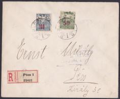 Baranya, Registered Cover From Pecs, Localy, 1920 - Baranya