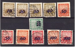 1924 Surcharge Y  31-40 + 54 - Postage Due