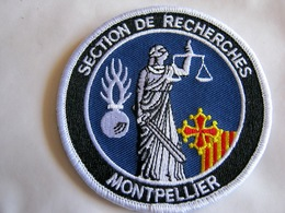 ECUSSON GENDARMERIE NATIONALE LA BR BRIGADE DE RECHERCHE DE MONTPELLIER 34 SUR VELCROS ETAT EXCELLENT - Policia