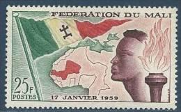 """Mali YT 1 """" Création De La Fédération """" 1960 Neuf** - Malí (1959-...)"""