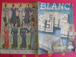 Catalogue Blanc Aux Galeries Lafayette. 1938. Mercerie Ménage Hygiène Vêtements Lingerie - Fashion
