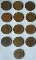 LOTE DE 13 MONEDAS DE 10 PFENNIG DE ALEMANIA. CON AÑOS DIFERENTES - [ 7] 1949-… : RFA - Rep. Fed. Alemana