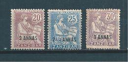 Colonies Francaise  Timbres De Zanzibar De 1902/03  N°50 A 52   Neufs * (cote 59€) - Unused Stamps