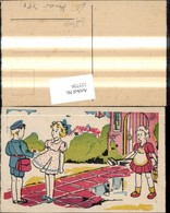 125726,Künstler Ak Post Postbote Briefträger Brief F. Frau - Post & Briefboten