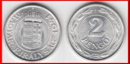 TOP QUALITE **** HONGRIE - HUNGARY - 2 PENGO 1941 - ALUMINIUM **** EN ACHAT IMMEDIAT !!! - Hungary
