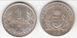 **** HONGRIE - HUNGARY - 1 PENGO 1938 - ARGENT - SILVER **** EN ACHAT IMMEDIAT !!! - Hungary