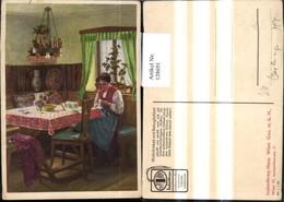 128691,Reklame Werbung Indanthren Stoffe Wien Mariahilf Karl M. Schuster - Werbepostkarten