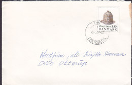 Denmark Deluxe FYN POSTCENTER 1991 Cover Brief OTTERUP 3.50 Kr. Flora Danica Stamp - Dänemark