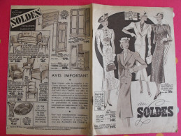 Catalogue Au Louvre. Paris. 1937. Soldes Meubles Vaisselle Jeux Jouets Vêtements Lingerie Linge - Fashion