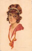 """04640 """"RITRATTO FEMMINILE"""" GIOVANE RAGAZZA INIZI '900.  CART  SPED 1915 - Moda"""