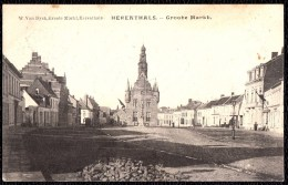 HERENTHALS HERENTALS - GROOTE MARKT Met Opengebroken Weg ( Zie Berg Kasseien) Zeldzaam - 1905 - Herentals