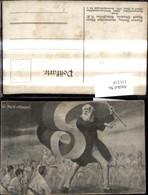 131219,Künstler Ak A. Stephan Mann Flagge Ein Ruf Ist Erklungen - Geschichte