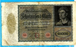 REICHSBANKNOTE 1922   ** ZEHNTAUSEND MARK ** - [ 3] 1918-1933 : République De Weimar
